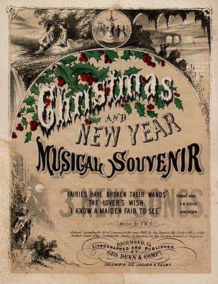 Free Vintage Clip Art Christmas Sheet Music