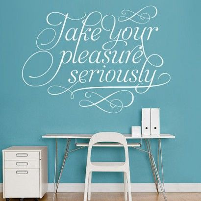 Charles Eames - Take Your Pleasure Seriously Sticker - Moon Wall Stickers