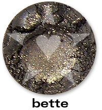 "Bette is a dreamy steel blue grey with sparks of green and gold. From Aromaleigh Mineral Cosmetic's ""Bete Noire"" Eyeshadow Collection... http://www.aromaleigh.com/nebnomieyco.html"