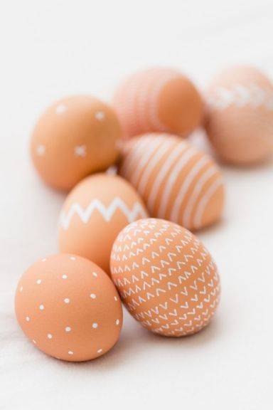 Painted Brown Eggs