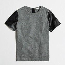 Factory leather-sleeve tee