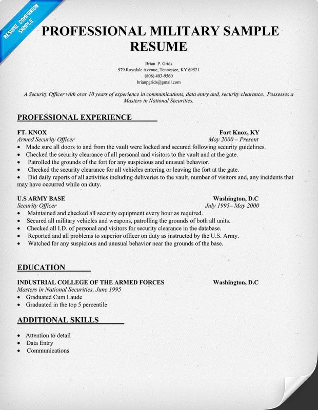 Retired Military Resume. Resume Military Resume Navy To Admin