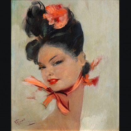 Elégante au foulard rose