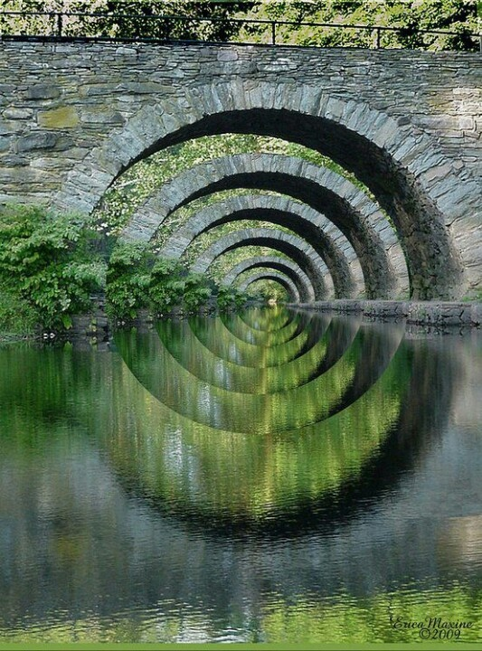 Stone bridge optical illusion....New York