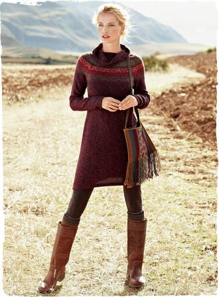 Fair Isle Sweater Dress ... Add some leg warmers and it's ON :)