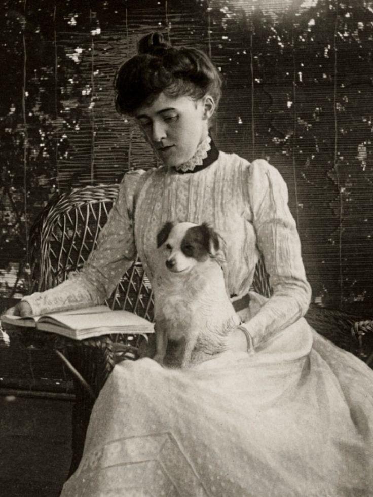 Edith Wharton & puppy.