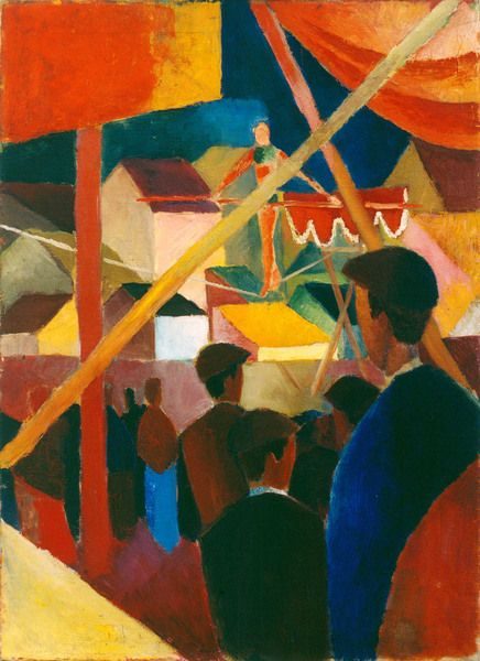 August Macke, Rope Dancer (Seiltänzer), 1914
