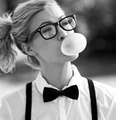 Glasses & bubble gum
