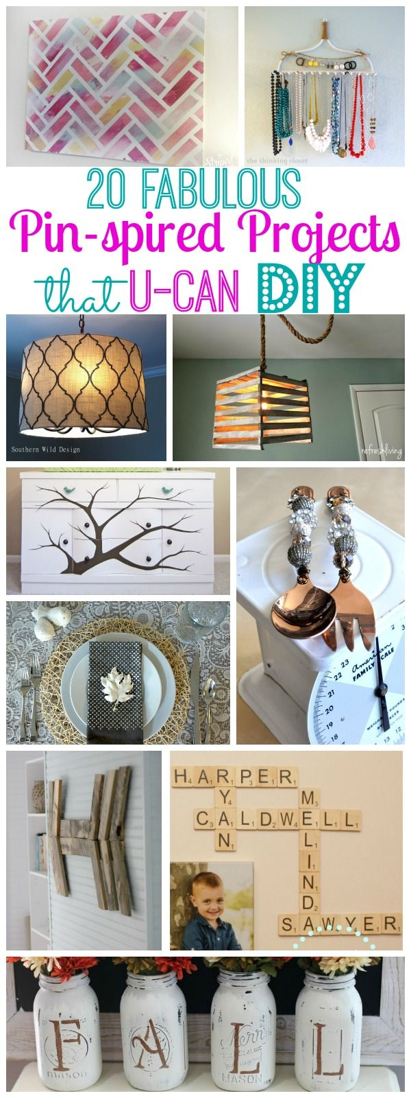 20 Fabulous Pinterest Pin-spired Projects {that you can DIY} - The Happy Housie