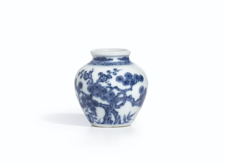 A blue and white 'Three Friends of Winter' jarlet, Mark and period of Yongzheng