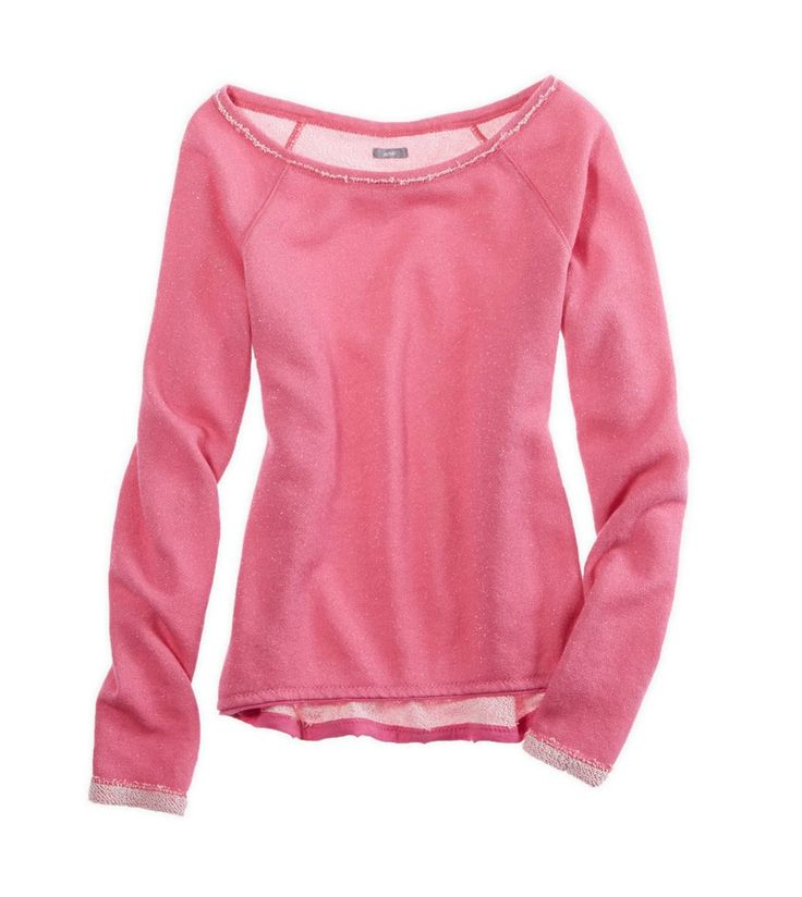 rose pink sparkle sweatshirt @Aerie by American Eagle by American Eagle