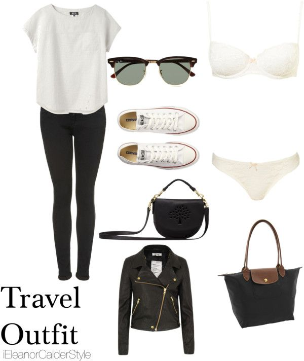 Travel Outfit (GUIDELINE) easy to interchange similar pieces to match your style.