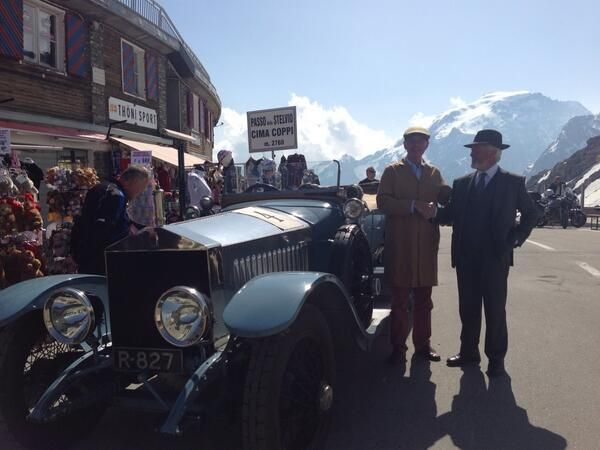 June: The 1913 Radley Silver Ghost makes it to the top of the Stelvio Pass – and its 48 hairpins.