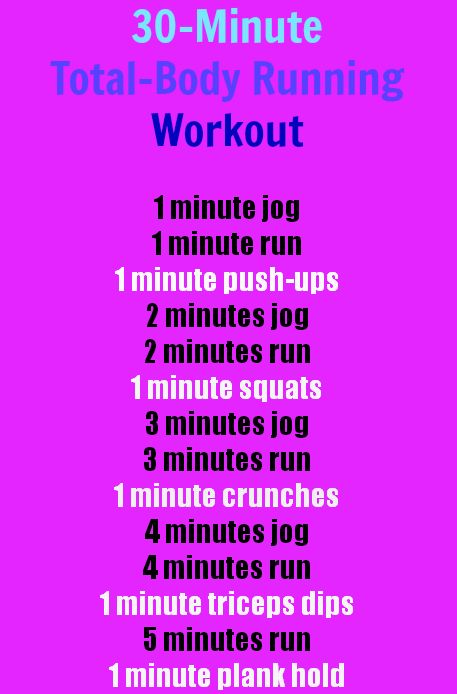 A 30-Minute, Total-Body Running Workout! Quick-and-Easy! :) | Health.com