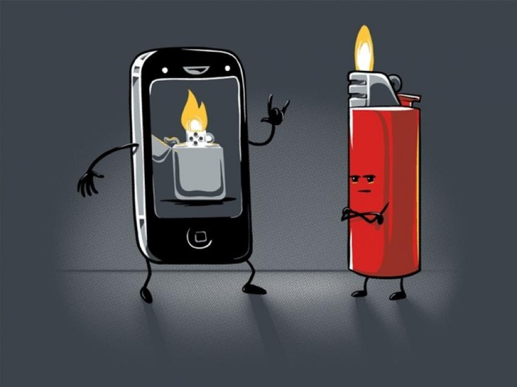 I like to use my phone as a lighter at concerts : )
