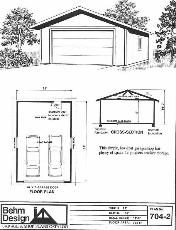 16 X 20 Garage Plans – 16X20 Garage Plans