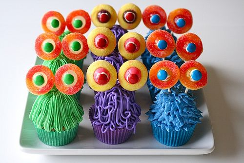Cute Monster Cupcakes!