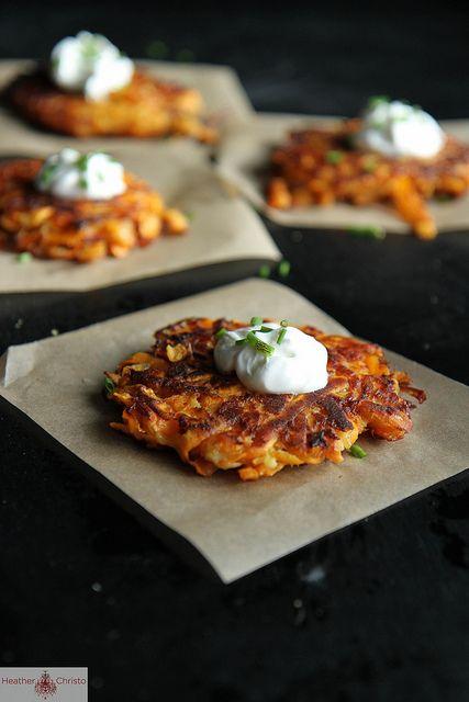 Sweet Potato Latkes by Heather Christo