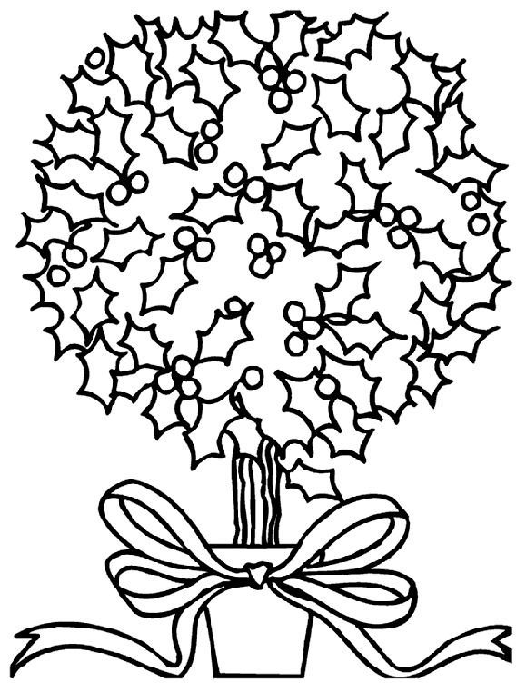 mistletoe plant coloring page christmas coloring pages pinterest