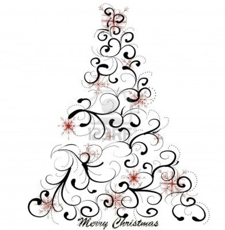 Image result for Elegant Christmas Tree cartoon