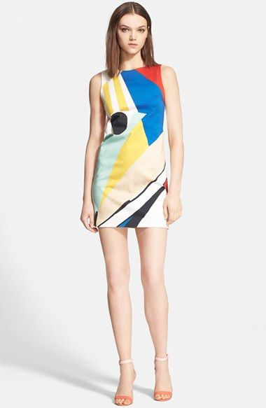 Alice + Olivia 'Clyde' Print Stretch Cotton Dress