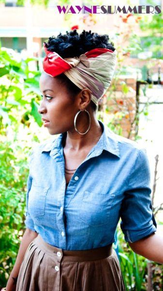 Headscarf meets natural hair!