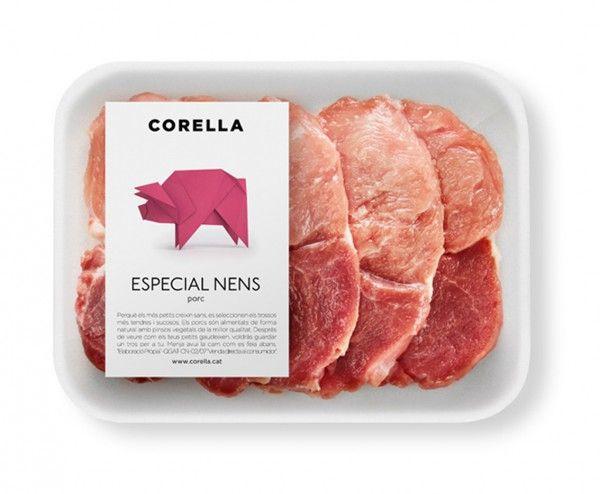Corella Nens Porc - serie de packaging muy didacticos