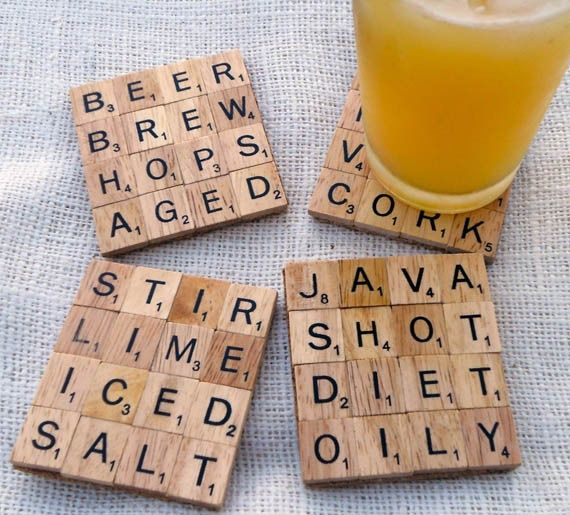 Scrabble coasters...with bad words or good :) what themes would u do?