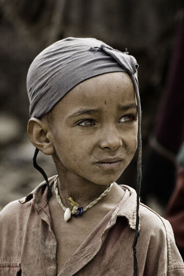 Africa |  Portrait of a Tigray Child