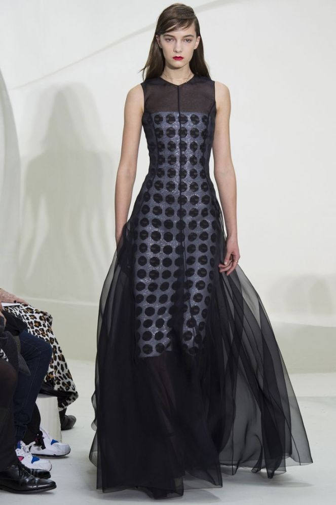Christian Dior Spring 2014 Haute Couture, black and white dress, chiffon dress