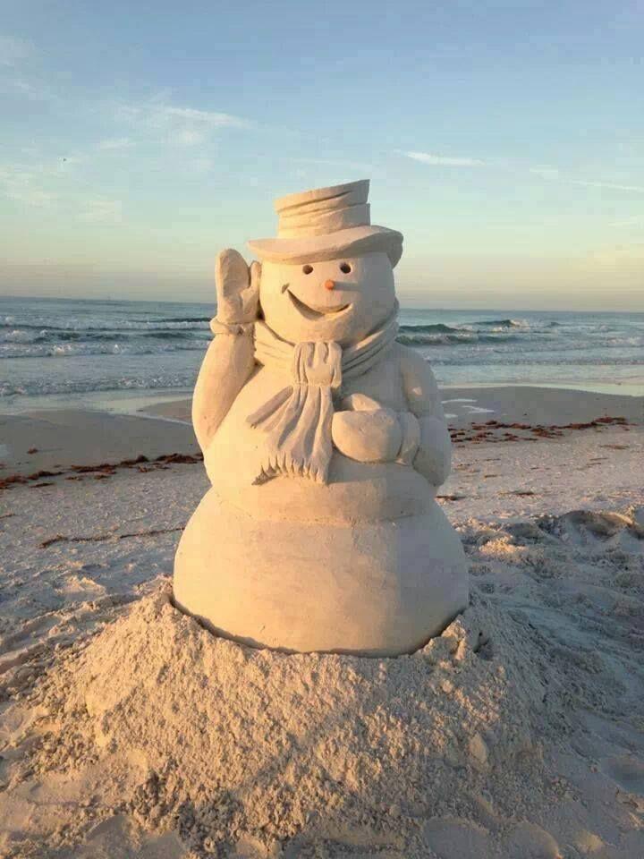 Florida Beach Snowman