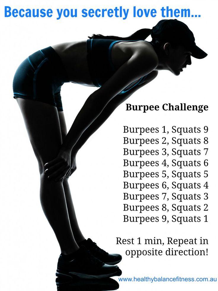 love Burpee Challenge workout