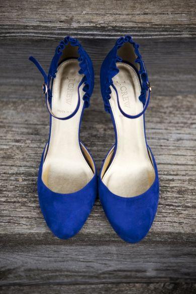 Something Dazzling Blue Wedding Shoes #pantone #dazzlingblue #wedding #bbjlinen #bbjtablefashions
