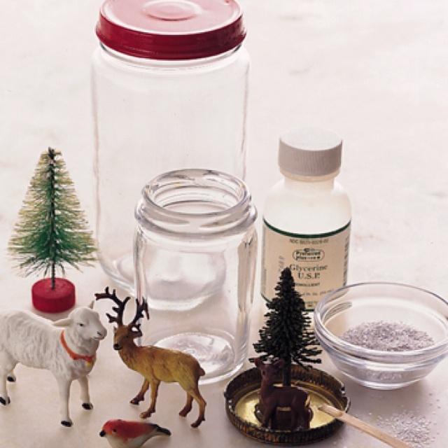 DIY snowglobes also make mini bottle snowglobe charms with mini bottles: http://www.ecrafty.com/c-517-mini-glass-bottles.aspx #ecrafty
