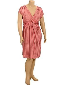 Womens Plus Cross-Front Dresses