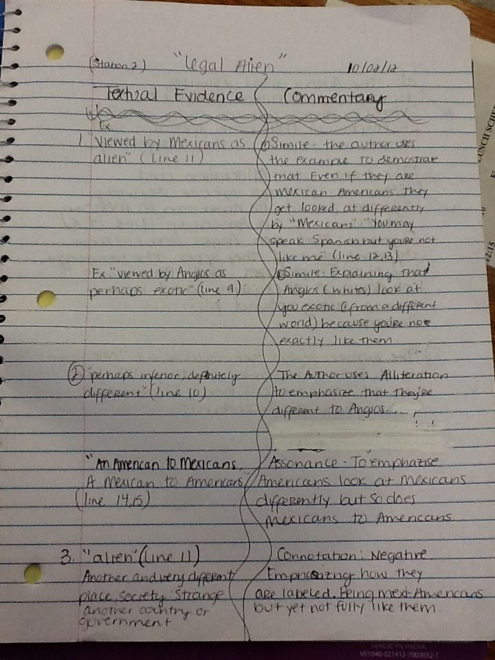 dialectical journal example introduction to compare and contrast
