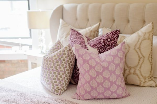 Pretty pillows! // Style at Home: Kat Tanita Of With Love From Kat