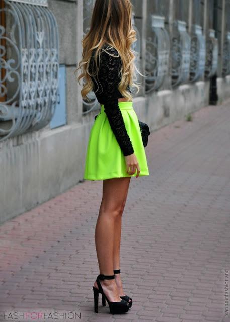 neon party mini skirt