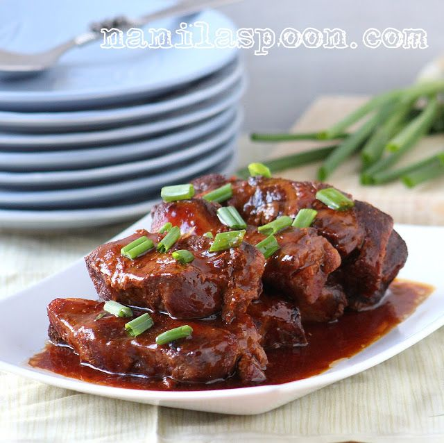 Manila Spoon: Slow Cooker Asian Bar-B-Q Ribs - simply scrumptious and so easy to make, too! #slowcookerasianbarbecueribs #asianstyleribs