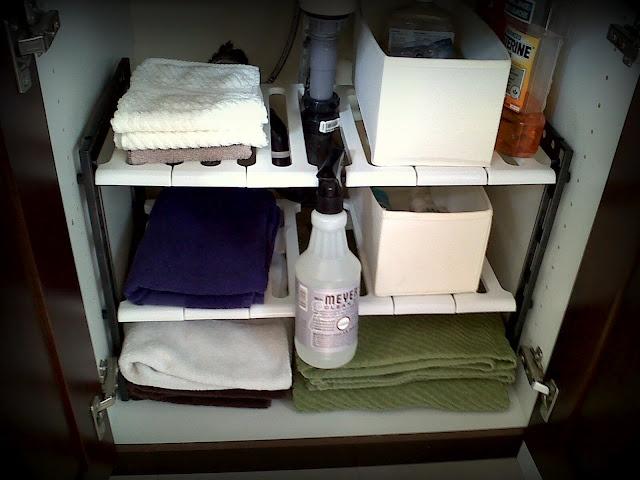 under the sink shelves