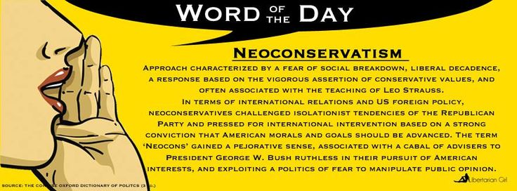 Image result for definition of neocons