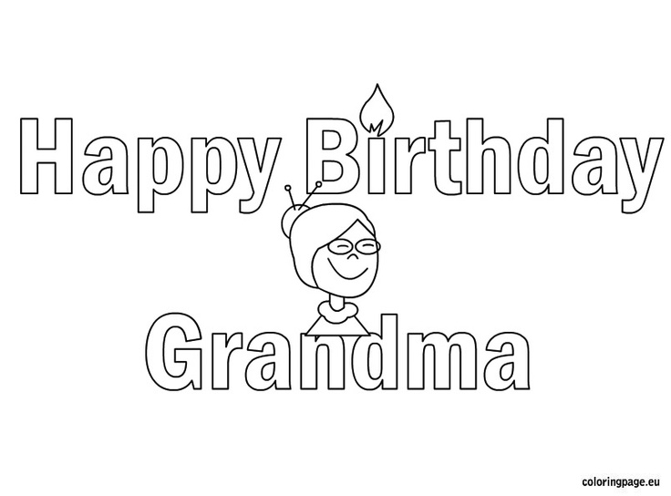happy birthday grandma coloring page  kid crafts  pinterest