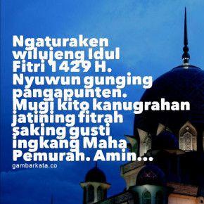 Ucapan Idul Fitri Bahasa Jawa Inggil Qq Lebaran