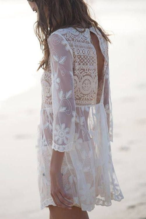 Sheer white tunic top.