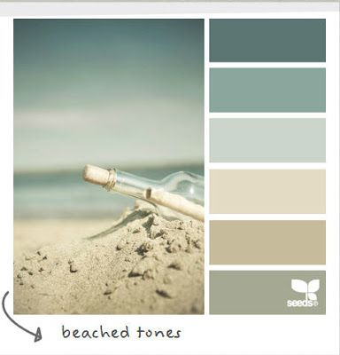 Coastal and Beach Decor: Coastal Decor Color Palette - Beached Tones