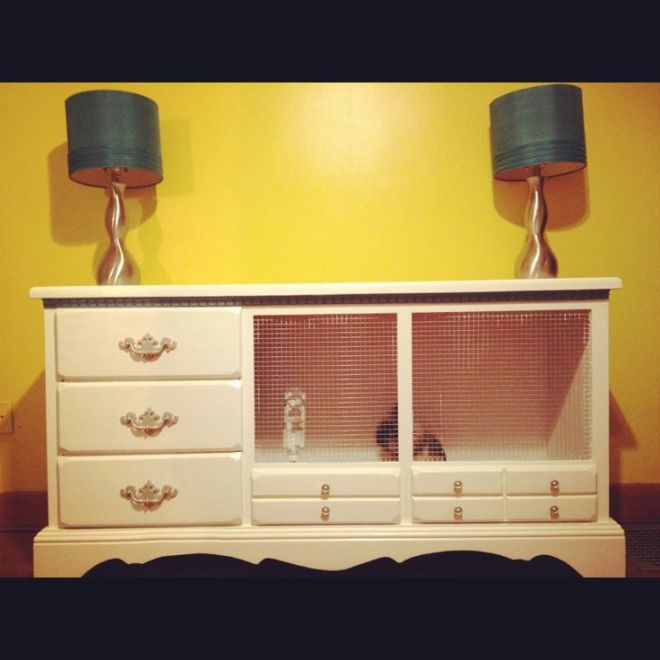 Diy rabbit cage out of old dresser bailey pinterest