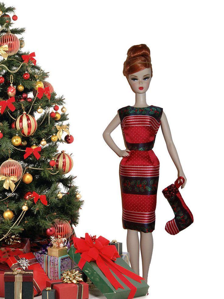 Silkstone Barbie Xmas Sheath & Matching Stocking