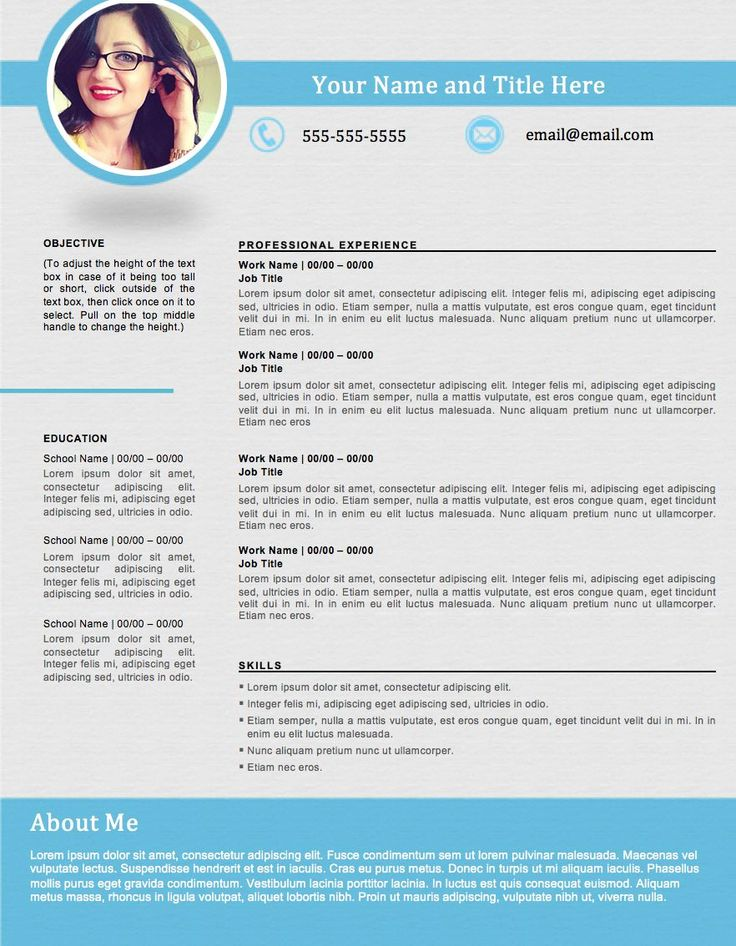 shapely blue resume template edit easily in word https sellfy