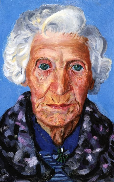 David Hockney, Mum- - I think she is beautiful, blue eyes and white hair many years of wisdom.
