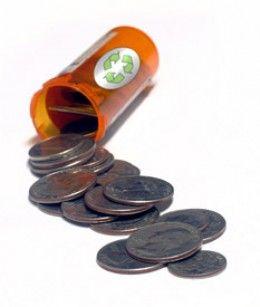 how to reuse plastic medicine bottles -great for change